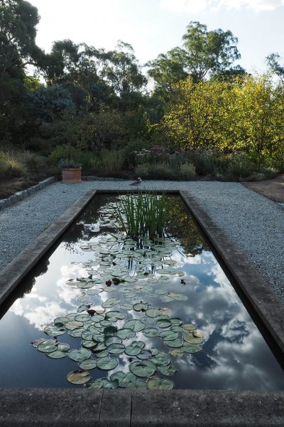 Stone or brick garden ponds for contemporary gardens