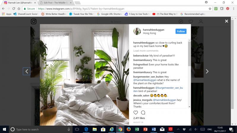 Plant filled bedroom