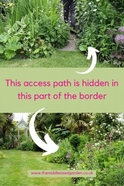 Hidden paths for border access