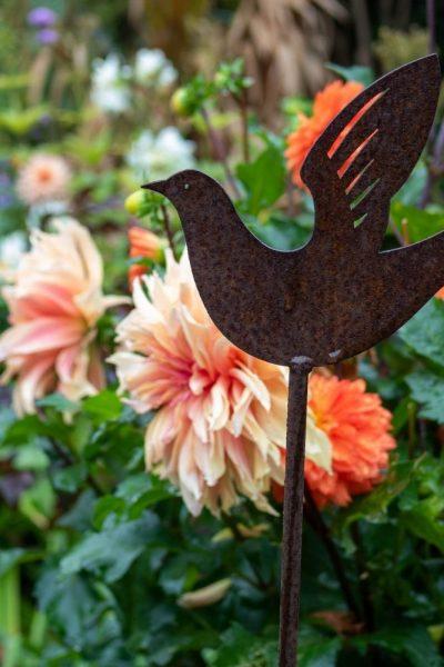 Rusty bird stake