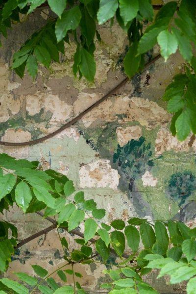 Mural on garden wall