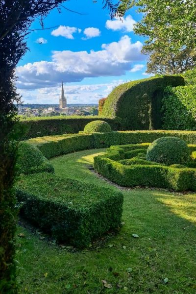 Parterre overlooking Norwich Cathedral