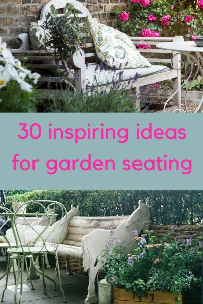 30 inspiring ideas for garden seating