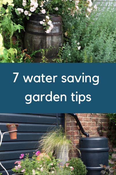 7 easy, effective water saving garden tips #gardening #backyard