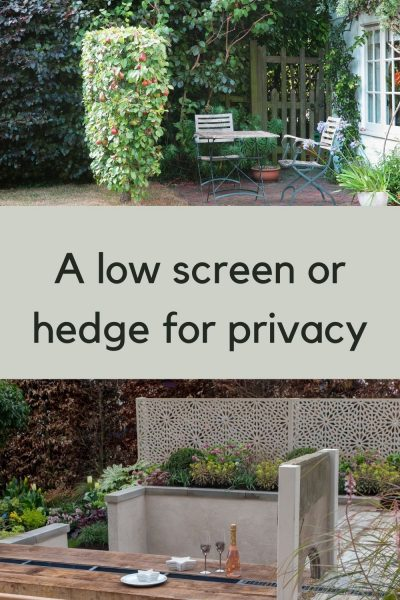 low privacy screen for garden