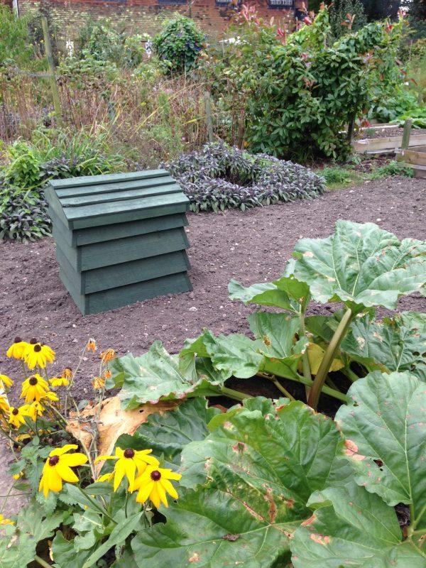Bee-hive compost bin