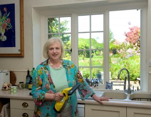 Alexandra Campbell with Karcher Window Vac
