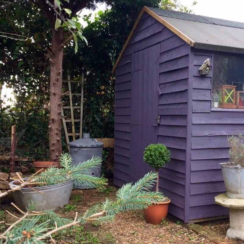 Darker colours make a shed recede
