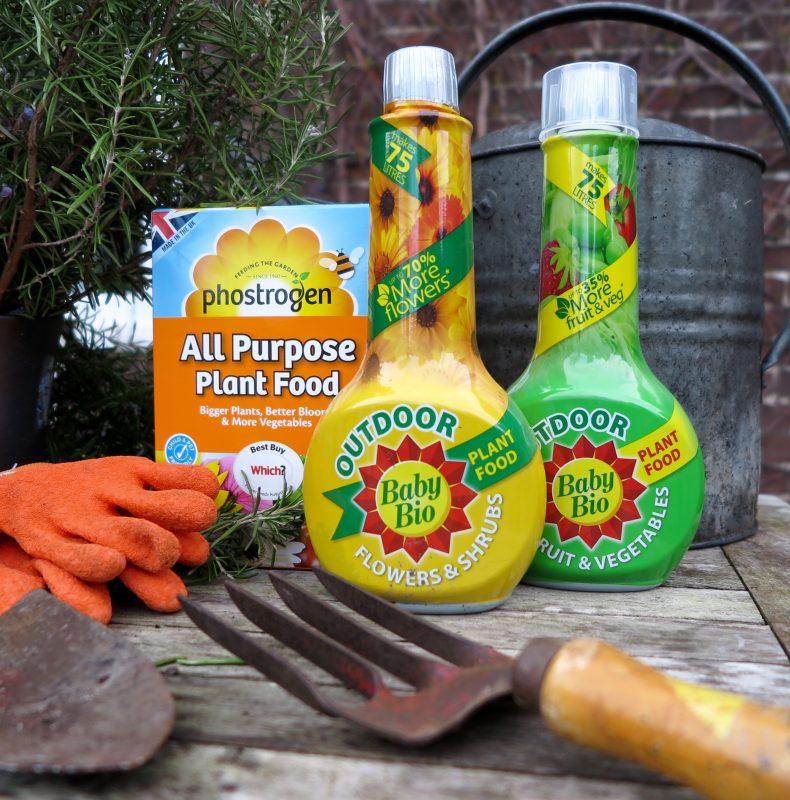 Outdoor Baby Bio and Phostrogen garden fertiliser in the Middlesized Garden