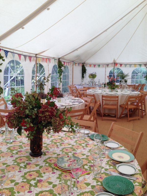 Home-made marquee bunting