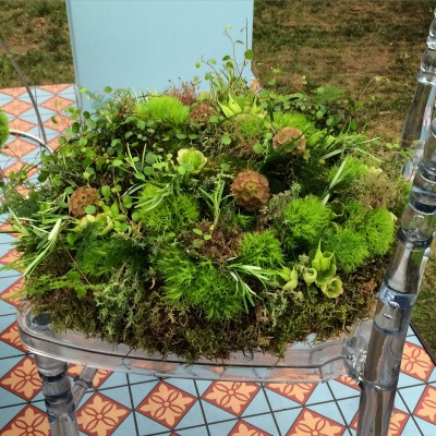 floral seat from RHS Chelsea