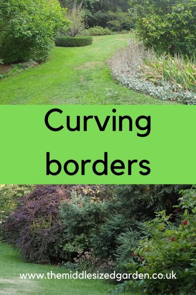 Lawn and curving borders