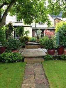 garden at different heights