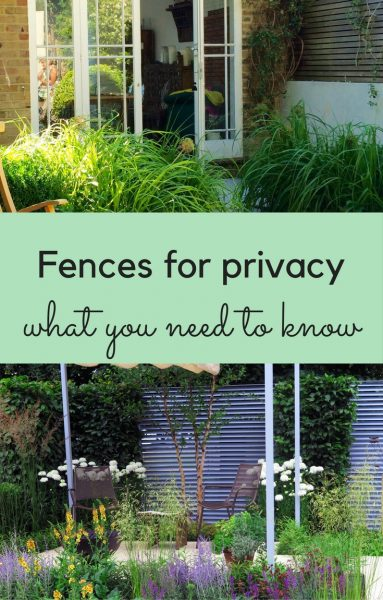 Fences for privacy - 9 great ideas for garden screening - The Middle ...