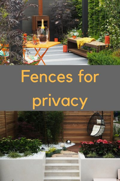 Give wooden privacy fences a contemporary look