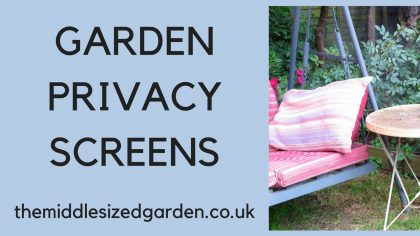 Garden privacy screens