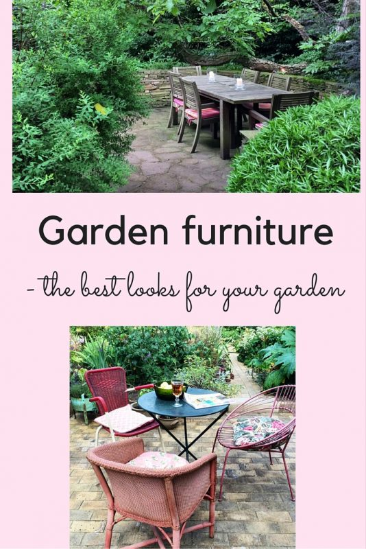 Garden furniture styles for your garden