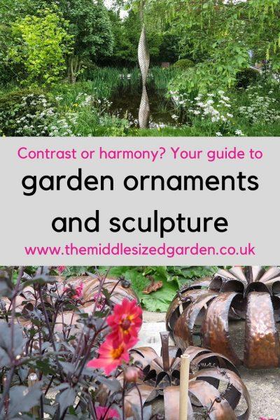 Copper or steel garden ornaments
