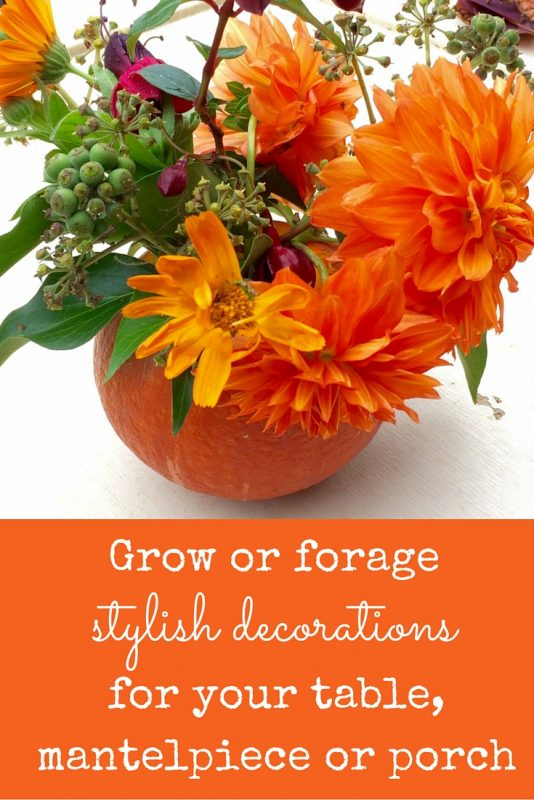 Easy DIY ideas for decorating with finds from the garden and field