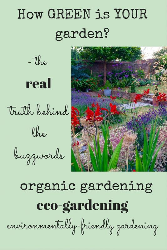 What does 'green' gardening mean?