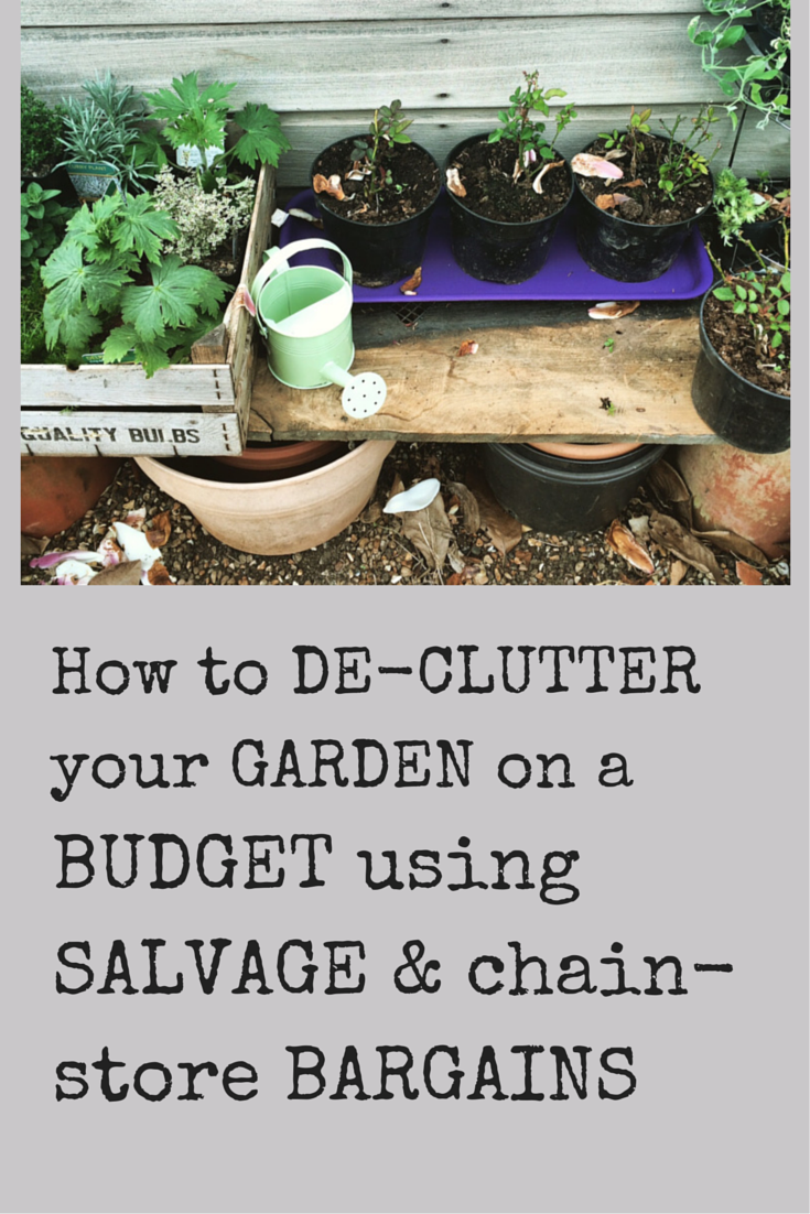 The middle sized garden how to de clutter your garden for How to landscape a garden on a budget