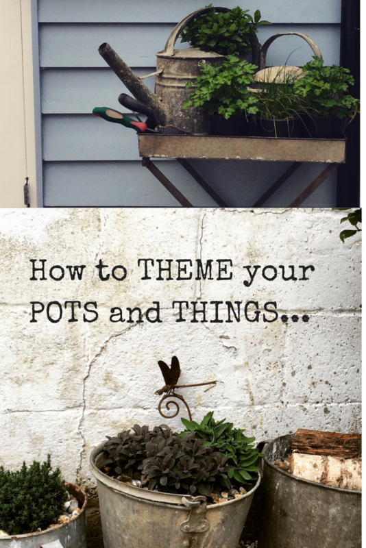 Re-vamp your patio with vintage zinc pots