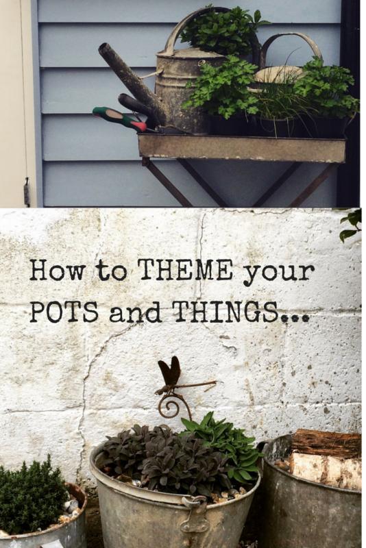 Re-vamp your patio with vintage zinc pots