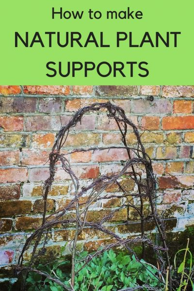 How to make natural plant supports