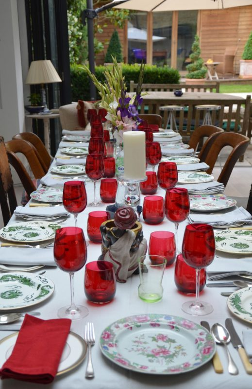Red themed table