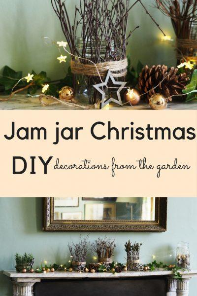 DIY jam jar Christmas decorations