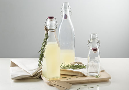 Kilner click-top bottles.