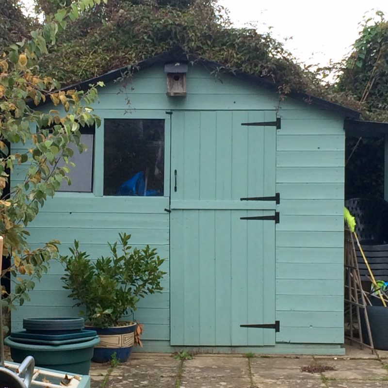 Re-vamp your shed with duck egg blue paint