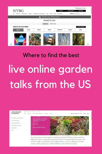 Live online garden talks in the US