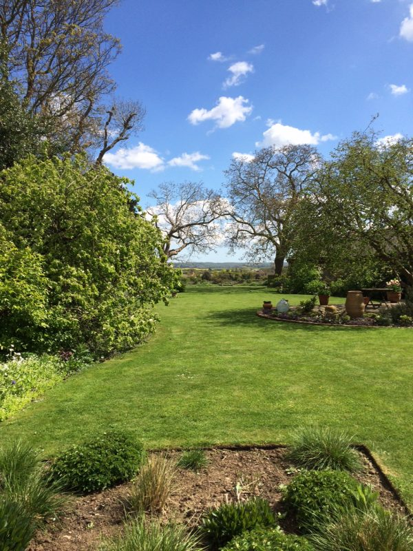 Views are an important element in country gardens, whether modern or traditional
