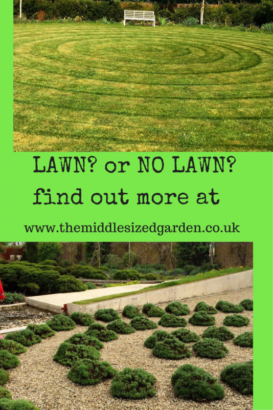 Two very different circular garden treatments - both very contemporary