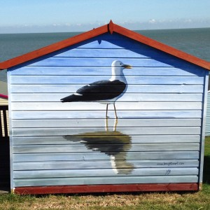 Beach hut in Tankerton, Kent