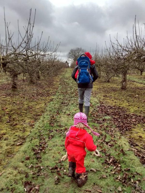 Take your children outdoors with you