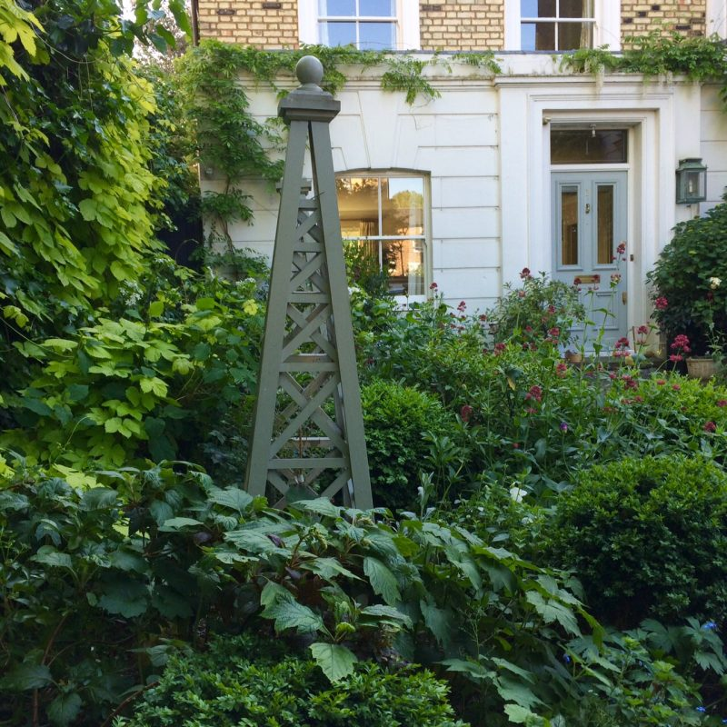 Front garden obelisk