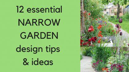 12 essential NARROW garden design tips & ideas