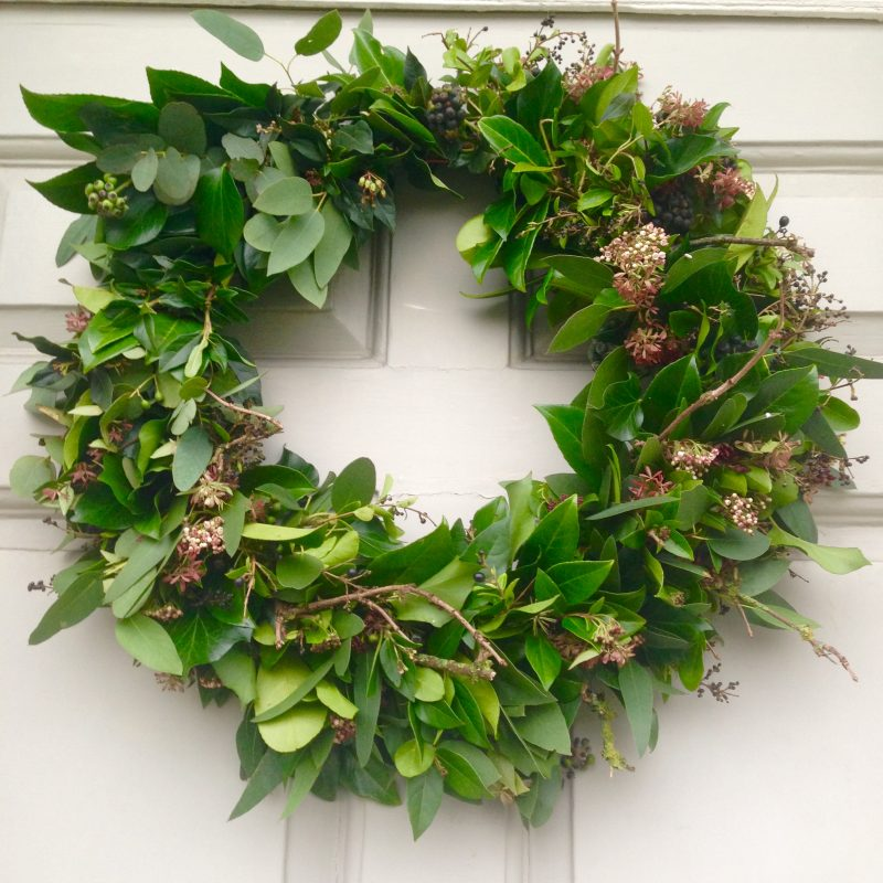 Make your own festive wreath from garden clippings