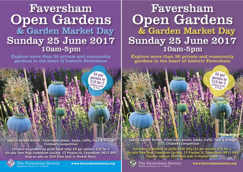 Faversham Open Gardens flyer