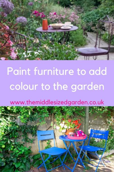 Painted garden furniture
