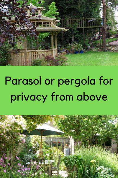 parasol or pergola for privacy from above