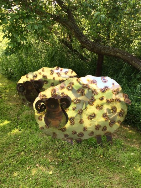 Sheep garden sculpture