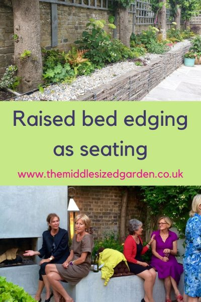 Raised bed garden seating ideas