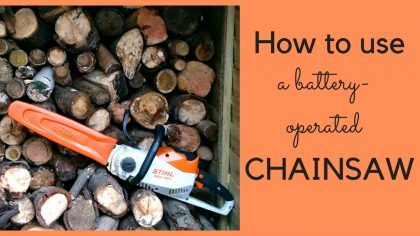 How to use the Stihl MSA Chainsaw