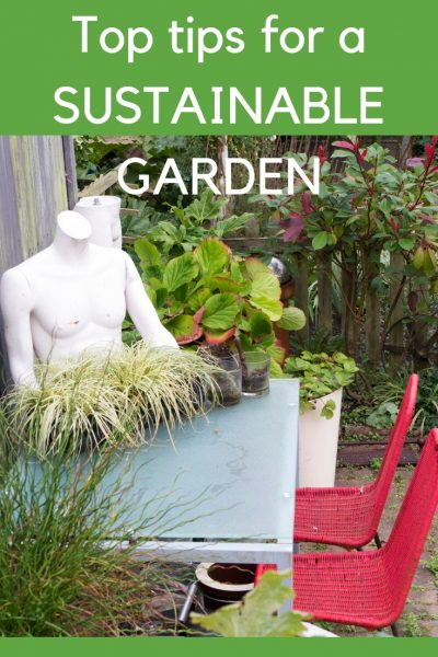 Re-use and recycle garden furniture for a sustainable garden #garden #sustainableliving