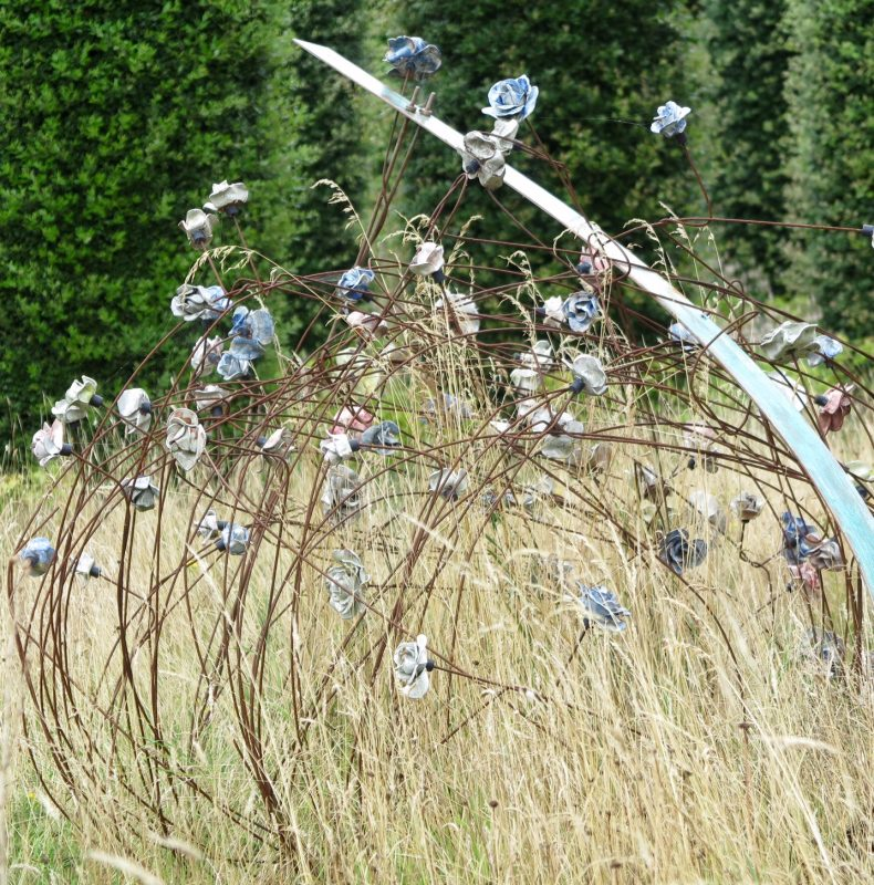 Meadow sculpture by Paul Cummins at The Salutation