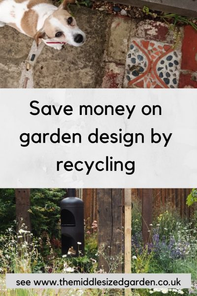 Save money on garden design by recycling or upcycling materials