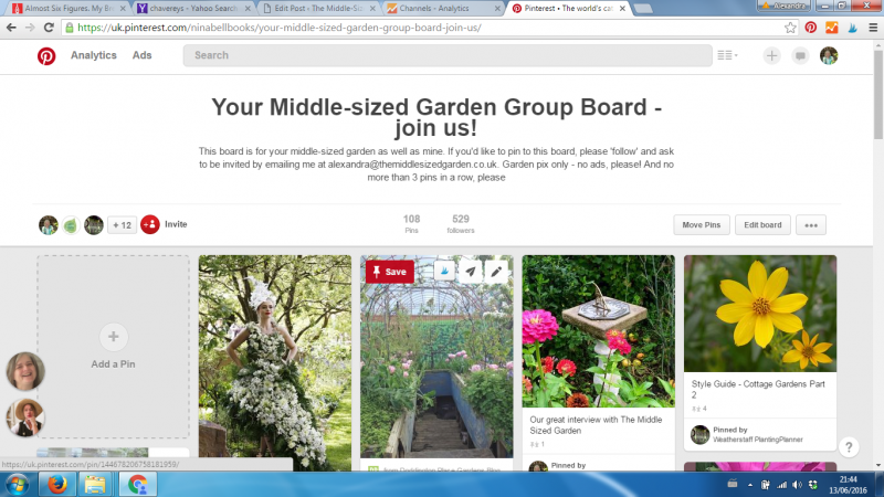 The Middlesized Garden Group Pinterest Board